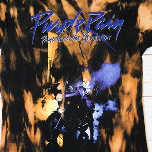 Prince Tops - Custom Prince The Revolution Purple Rain T-Shirt